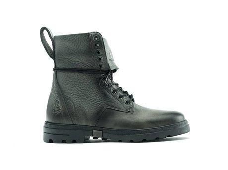 Darcey Nub Vintage | Hoge donkergroene boots