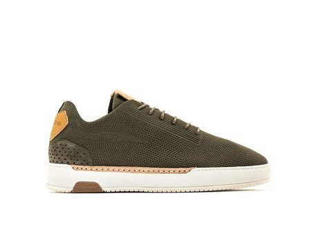 Thierry Knit | Donkergroene sneakers