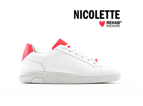REHAB NICOLETTE WHITE - CORAL PINK FLUO