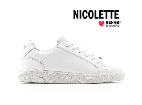 REHAB NICOLETTE WHITE - GOLD - PRE-ORDER