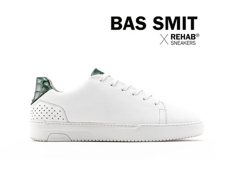 REHAB BAS SMIT WHITE - GREEN CROCO - Pre-order
