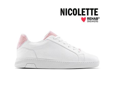 REHAB NICOLETTE WHITE - PINK VELVET - Pre-order