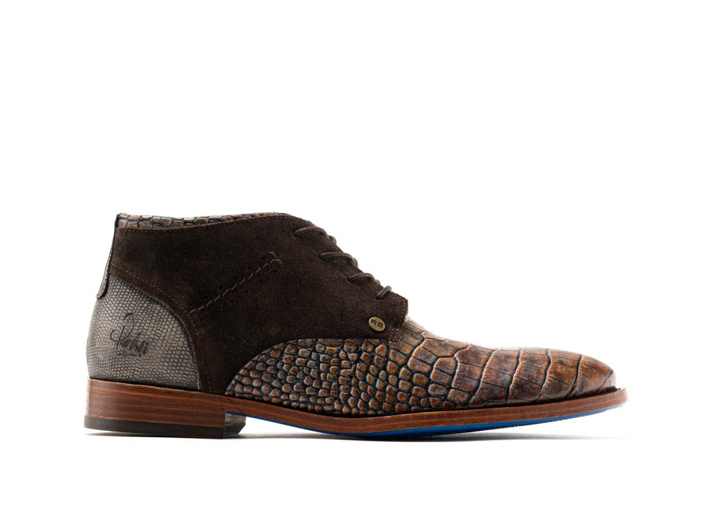 low priced dd718 71b0f REHAB SALVADOR CROCO BROWN CLASSIC HERRENSCHUHE - REHAB Footwear Online  Store