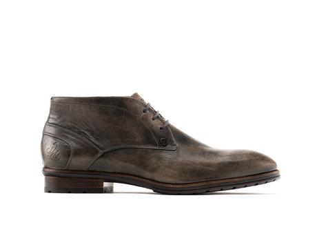 Cain Lthr | Halfhoge donkergrijze nette schoenen