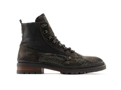 Melbourne Snk | Hoge donkergroene boots