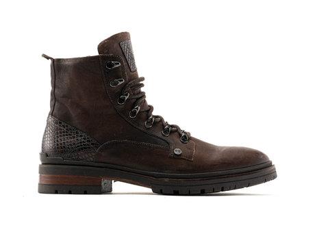 Melbourne Lthr | Hoge bruine boots