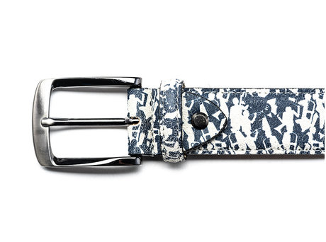 REHAB BELT FRED MUSICIANS WHITE-BLUE