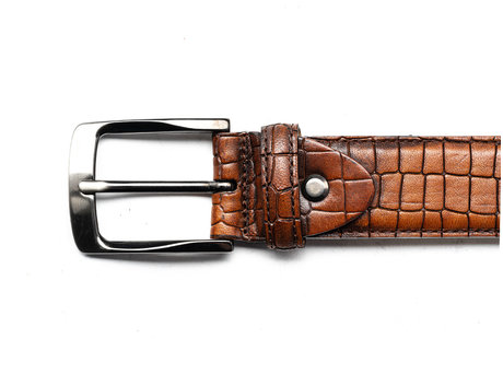 REHAB BELT CROCO SQ BROWN