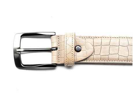 REHAB BELT CROCO SQ LIGHT GREY