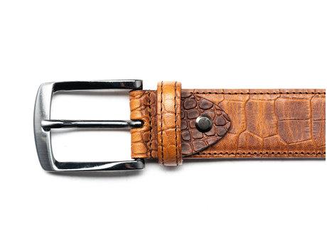 Belt Croco Cognac