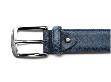 REHAB BELT CHECKER SUEDE DARK BLUE