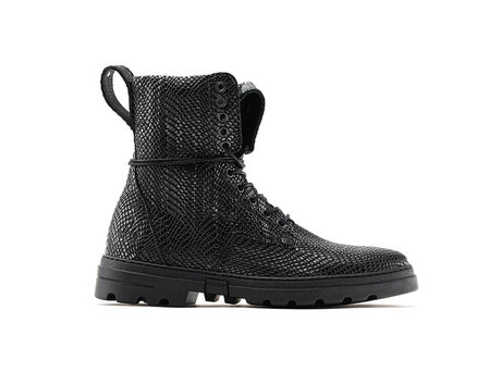 Darcey Army   Hoge donkergroene boots