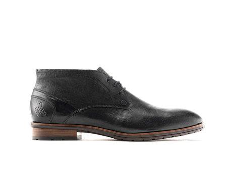 Cain Lthr | Halfhoge zwarte nette schoenen