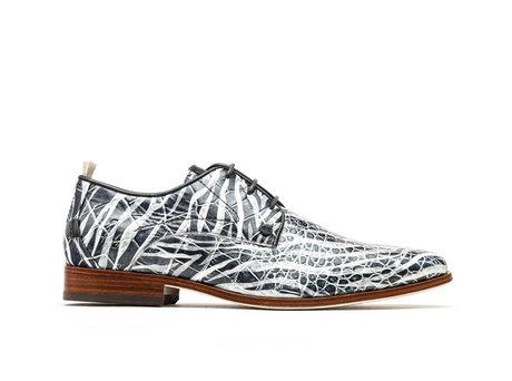Greg Crc Zebra | Donkergrijze nette schoenen