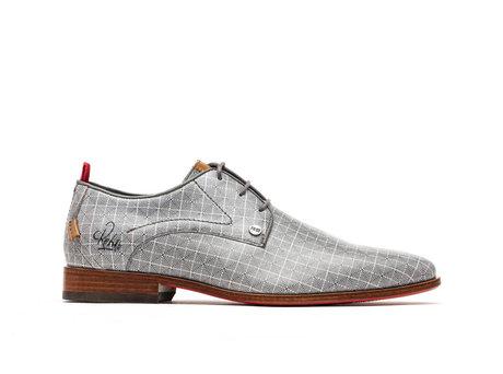 Grey Business Shoes Greg Dizzy Checker