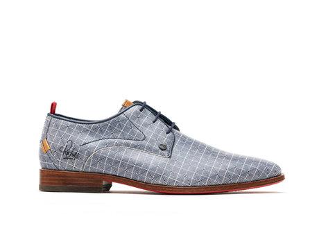 Blue Business Shoes Greg Dizzy Checker