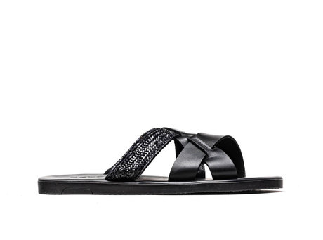 Roy Weave | Zwarte sandaal