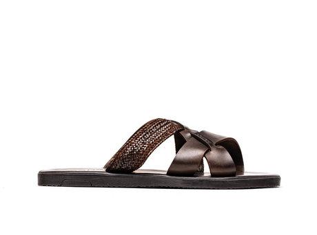 Roy Weave | Donkerbruine sandaal