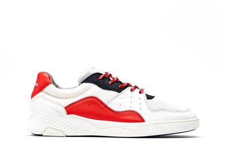 Red White Sneakers Rico Basic
