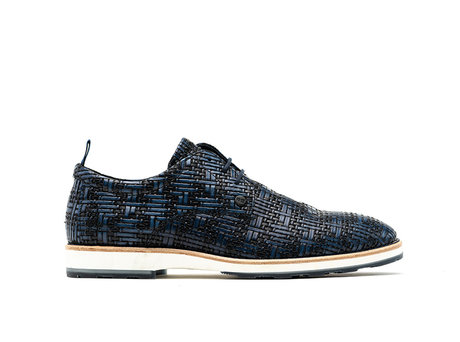 Rehab Dark Blue Business Schuhe Pozato Weave