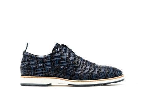 Rehab Dunkel Blaue Business Schuhe Pozato Weave