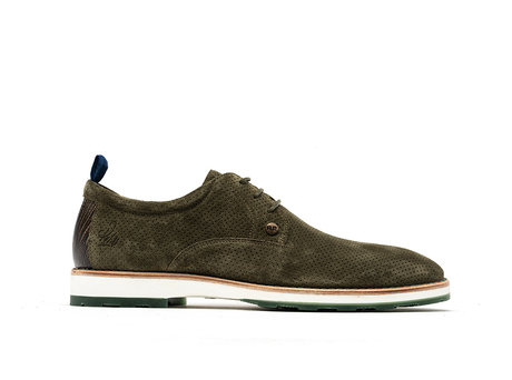 Rehab Green Business Shoes Pozato Suede