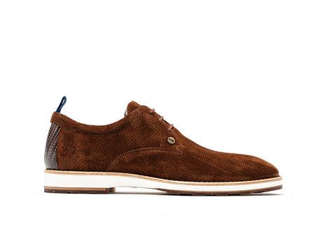 Braune Business Schuhe Pozato Suede