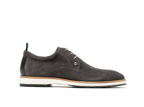Pozato Suede | Donkergrijze nette schoenen