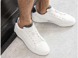Rehab Donker Blauwe Witte Sneakers Rosco Ii Lthr Snake