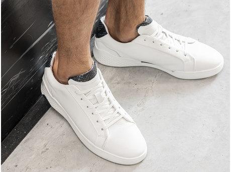 Rehab Dunkelblau Weiße Sneakers Rosco Ii Lthr Snake