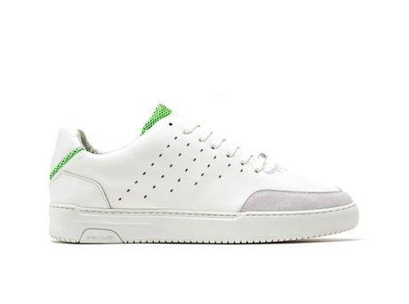 Green White Sneakers Tygo Lthr Fluor