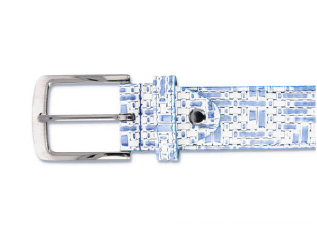 REHAB BELT WEAVE 120 WHITE-BLUE
