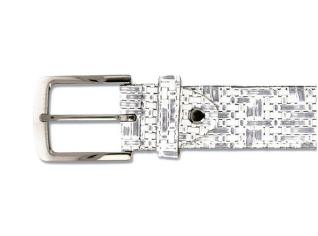 REHAB BELT WEAVE 120 WHITE-GREY