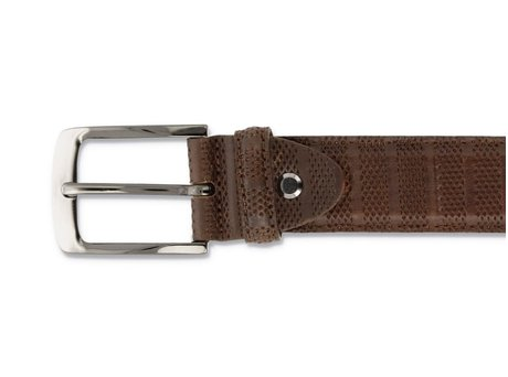 REHAB BELT STRIPES 120 COGNAC
