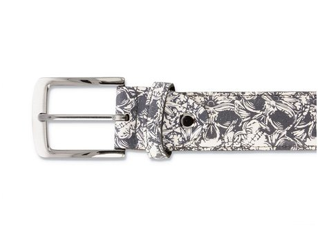 REHAB BELT SKULLS DARK GREY
