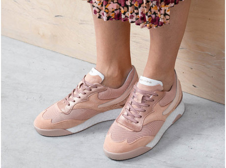 Avery Metallic | Perzik-roze sneakers