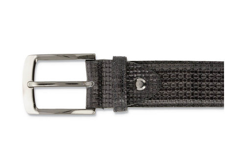 REHAB BELT WEAVE VERNIZ DARK GREY