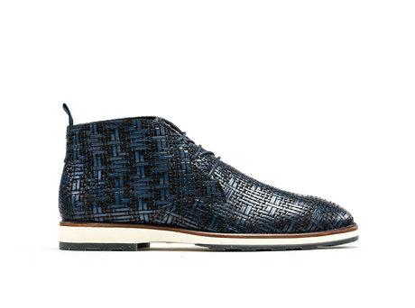 Rehab Dunkel Blaue Business Schuhe Potsavivo Weave