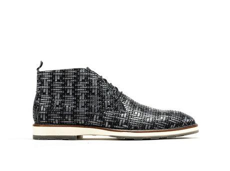 Rehab Dark Grey Business Shoes Potsavivo Weave