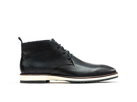 Potsavivo Lthr | Dark Blue Business Shoes