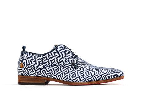 Rehab Blau Weiße Business Schuhe Greg Square