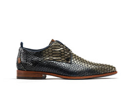 Rehab Green Blue Business Shoes Greg Snake Duo