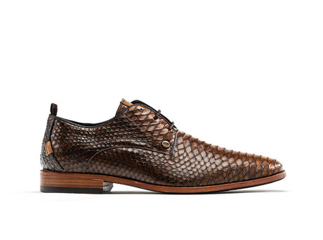 Rehab Brown Business Shoes Greg Snake Duo