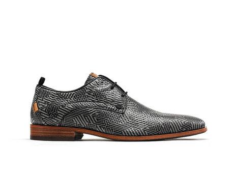 Grau Schwarze Business Schuhe Greg Labyrinth
