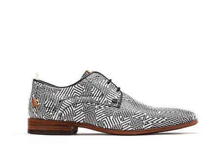 Schwarz Weiße Business Schuhe Greg Labyrinth