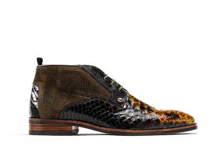 Fredo Snk Vnz   Hoge groene nette schoenen