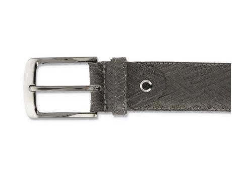 Belt Zig Zag Dark Grey