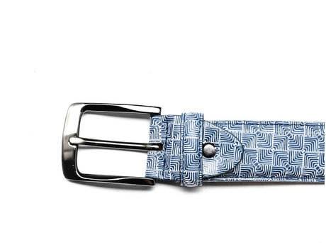 REHAB BELT DIZZY CHECKER INDIGO
