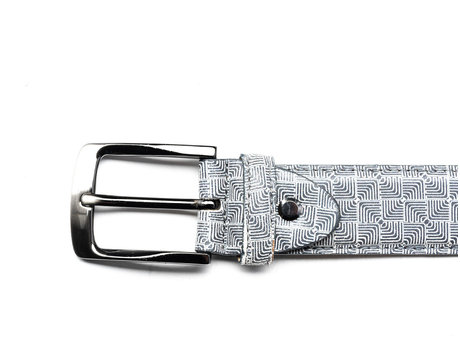 REHAB BELT DIZZY CHECKER GREY