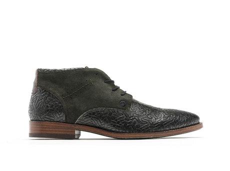 Salvador Weave   Hoge donkergroene nette schoenen